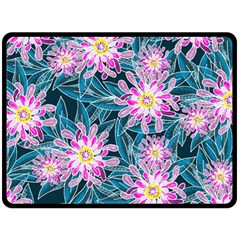 Whimsical Garden Fleece Blanket (Large)