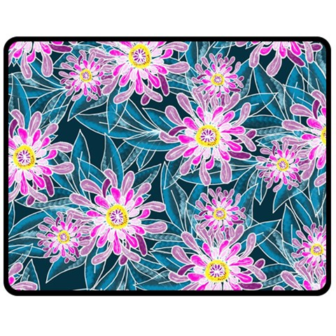 Whimsical Garden Fleece Blanket (Medium)