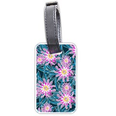 Whimsical Garden Luggage Tags (one Side)