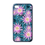 Whimsical Garden Apple iPhone 4 Case (Black) Front