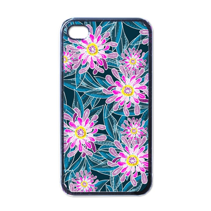 Whimsical Garden Apple iPhone 4 Case (Black)