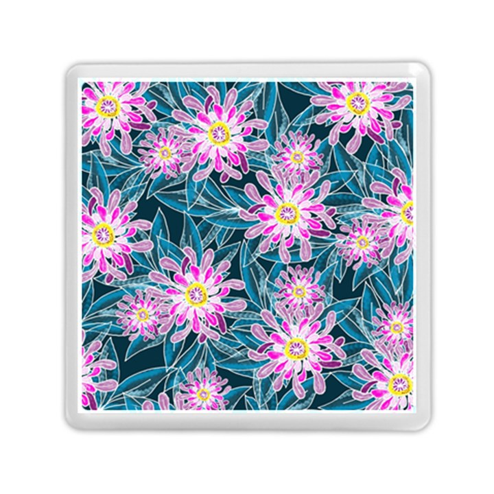 Whimsical Garden Memory Card Reader (Square)