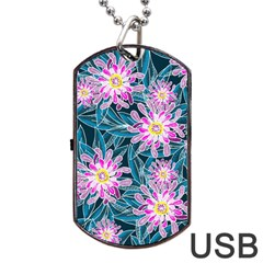 Whimsical Garden Dog Tag Usb Flash (two Sides)