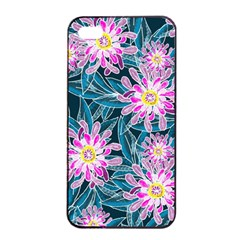 Whimsical Garden Apple iPhone 4/4s Seamless Case (Black)