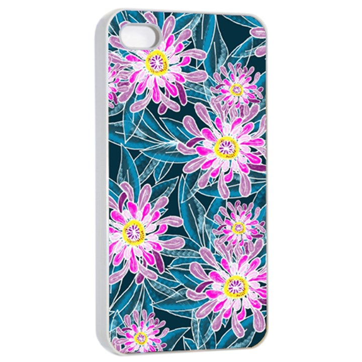 Whimsical Garden Apple iPhone 4/4s Seamless Case (White)