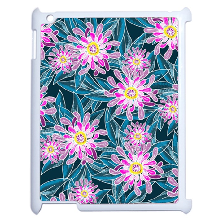 Whimsical Garden Apple iPad 2 Case (White)