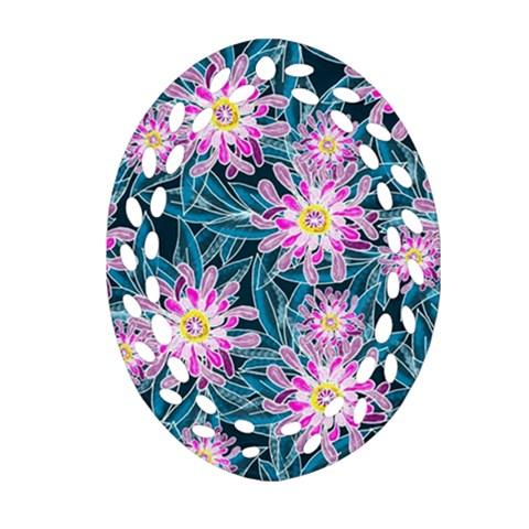 Whimsical Garden Oval Filigree Ornament (2-Side)