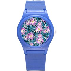 Whimsical Garden Round Plastic Sport Watch (S)