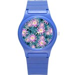 Whimsical Garden Round Plastic Sport Watch (S) Front