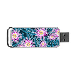 Whimsical Garden Portable USB Flash (One Side)