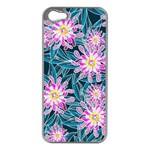 Whimsical Garden Apple iPhone 5 Case (Silver) Front