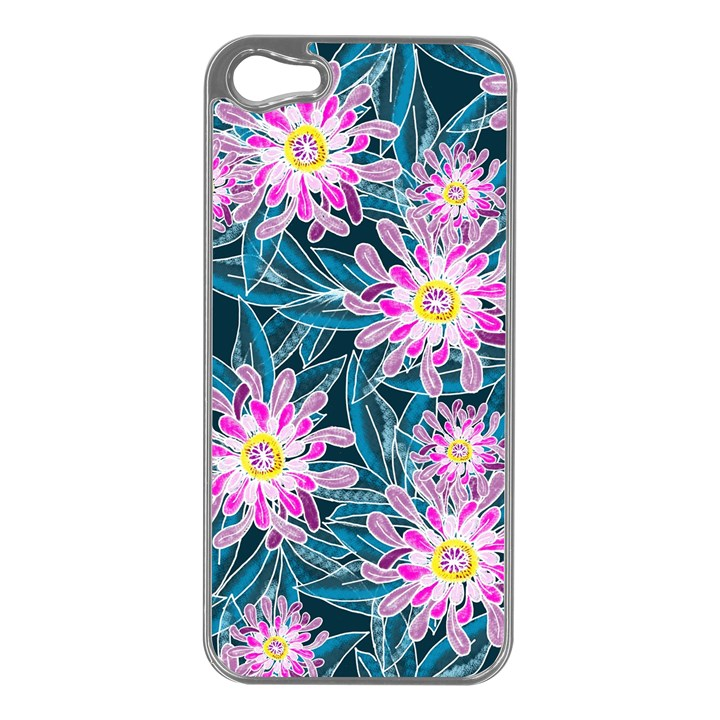Whimsical Garden Apple iPhone 5 Case (Silver)
