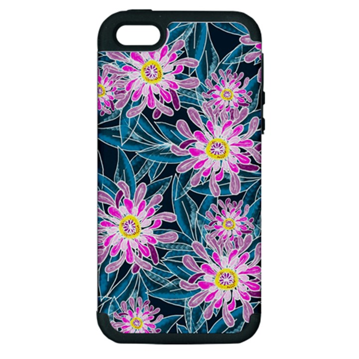 Whimsical Garden Apple iPhone 5 Hardshell Case (PC+Silicone)