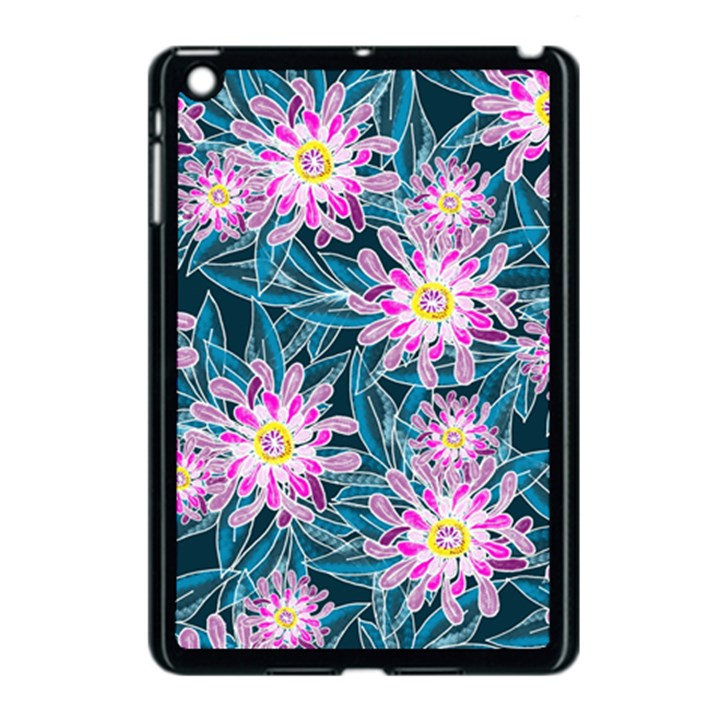 Whimsical Garden Apple iPad Mini Case (Black)