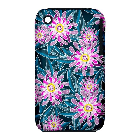 Whimsical Garden Apple iPhone 3G/3GS Hardshell Case (PC+Silicone)