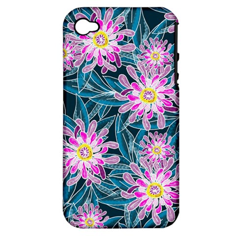 Whimsical Garden Apple iPhone 4/4S Hardshell Case (PC+Silicone)