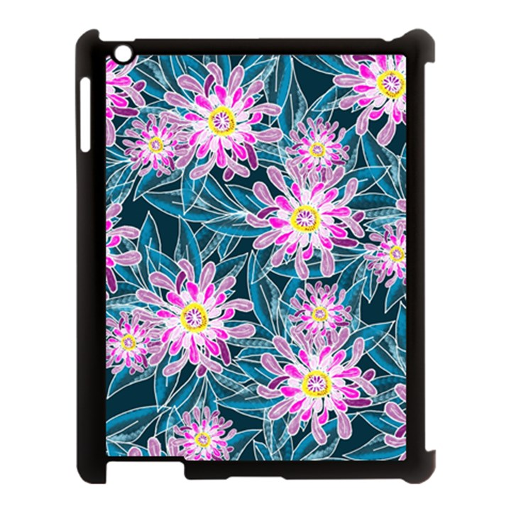 Whimsical Garden Apple iPad 3/4 Case (Black)