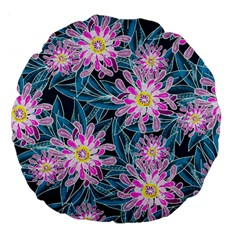 Whimsical Garden Large 18  Premium Round Cushions