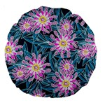 Whimsical Garden Large 18  Premium Round Cushions Back