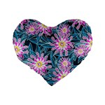 Whimsical Garden Standard 16  Premium Heart Shape Cushions Back