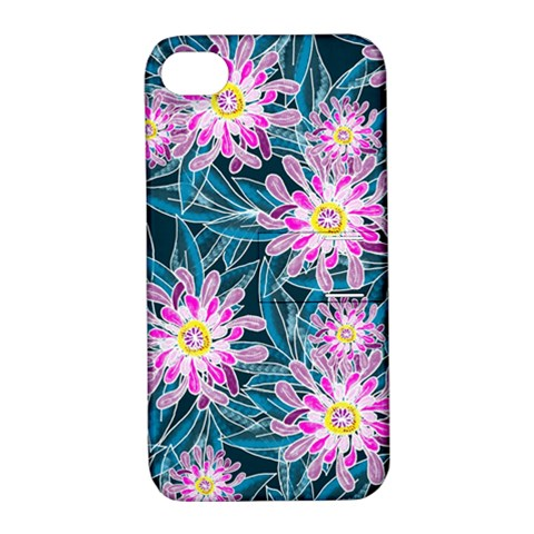 Whimsical Garden Apple iPhone 4/4S Hardshell Case with Stand