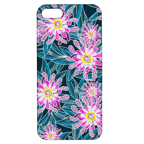 Whimsical Garden Apple iPhone 5 Hardshell Case with Stand