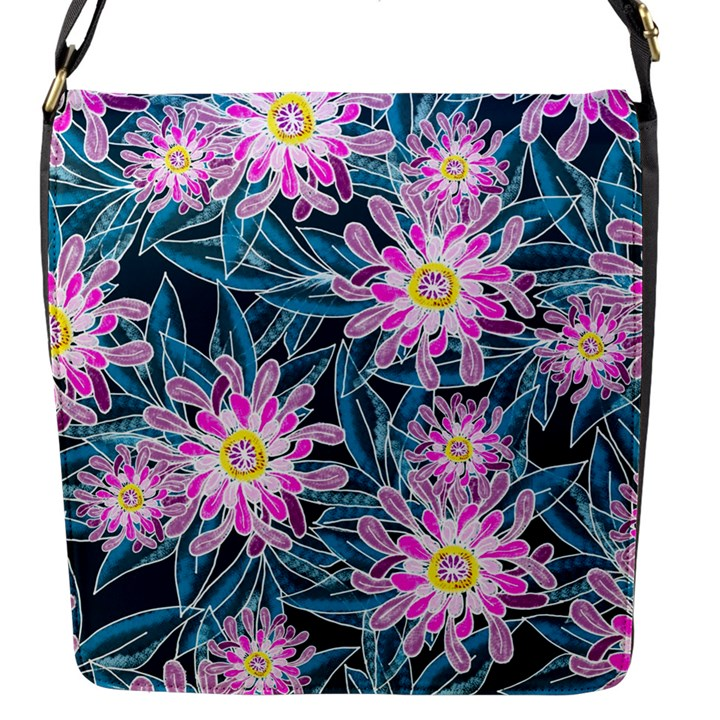 Whimsical Garden Flap Messenger Bag (S)