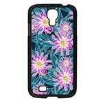 Whimsical Garden Samsung Galaxy S4 I9500/ I9505 Case (Black) Front