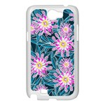 Whimsical Garden Samsung Galaxy Note 2 Case (White) Front