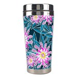 Whimsical Garden Stainless Steel Travel Tumblers Left