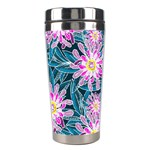 Whimsical Garden Stainless Steel Travel Tumblers Center