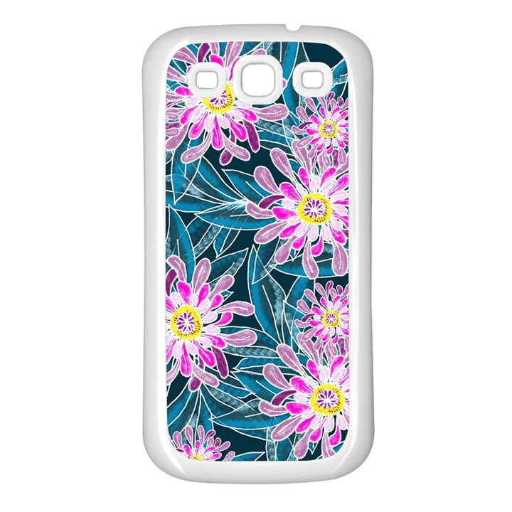 Whimsical Garden Samsung Galaxy S3 Back Case (White)
