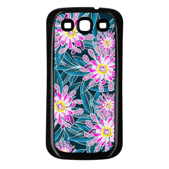 Whimsical Garden Samsung Galaxy S3 Back Case (Black)