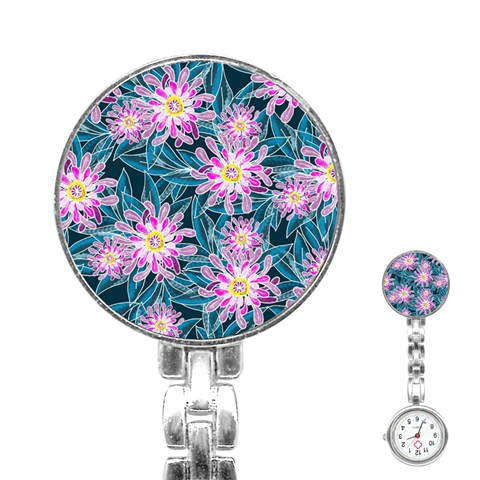 Whimsical Garden Stainless Steel Nurses Watch