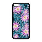 Whimsical Garden Apple iPhone 5C Seamless Case (Black) Front