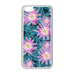 Whimsical Garden Apple iPhone 5C Seamless Case (White)