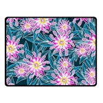 Whimsical Garden Double Sided Fleece Blanket (Small)  50 x40 Blanket Front