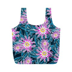 Whimsical Garden Full Print Recycle Bags (M)