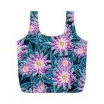 Whimsical Garden Full Print Recycle Bags (M)  Back
