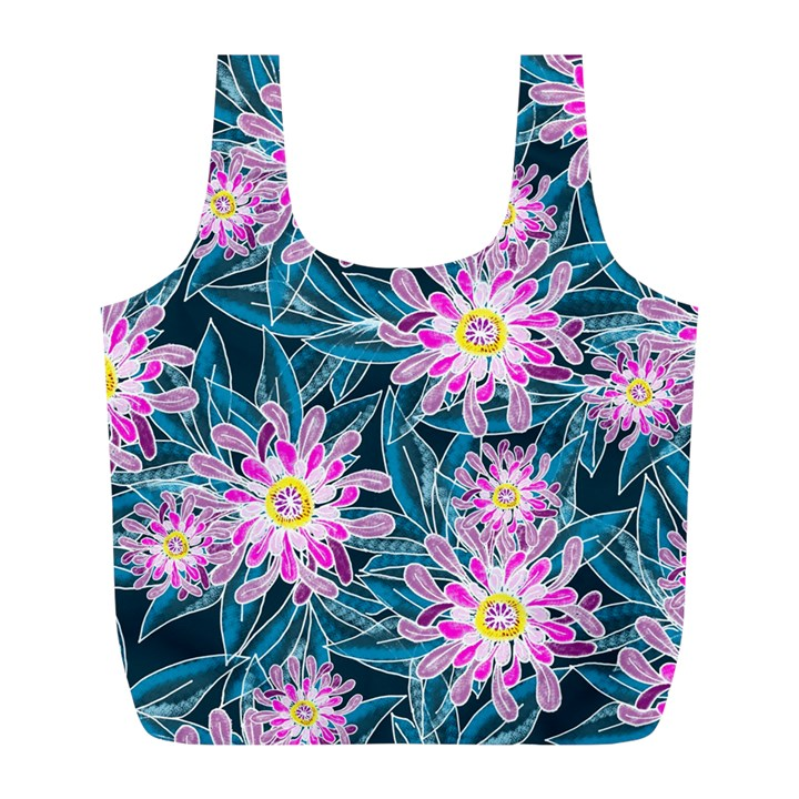 Whimsical Garden Full Print Recycle Bags (L)