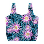 Whimsical Garden Full Print Recycle Bags (L)  Back