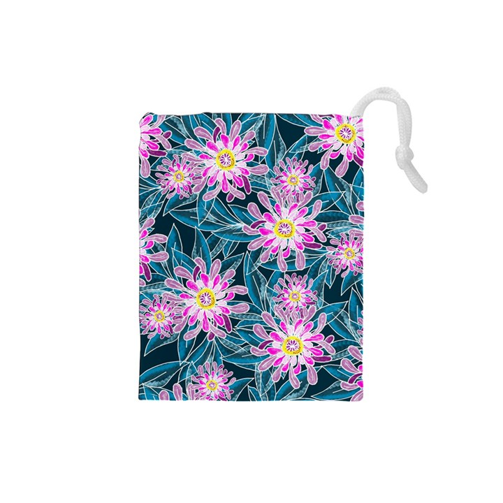 Whimsical Garden Drawstring Pouches (Small)