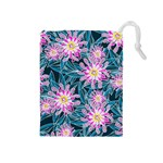 Whimsical Garden Drawstring Pouches (Medium)  Front