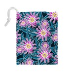 Whimsical Garden Drawstring Pouches (Large)  Back