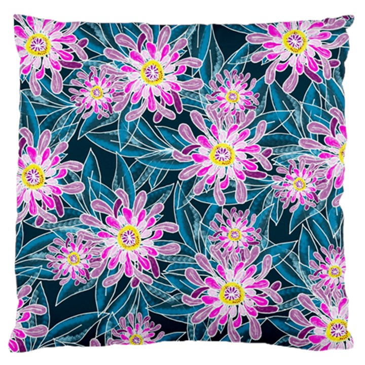 Whimsical Garden Large Flano Cushion Case (One Side)