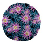 Whimsical Garden Large 18  Premium Flano Round Cushions Back