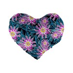 Whimsical Garden Standard 16  Premium Flano Heart Shape Cushions Front