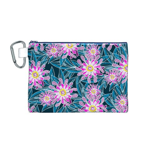 Whimsical Garden Canvas Cosmetic Bag (M)