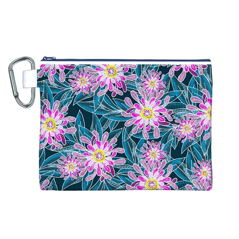 Whimsical Garden Canvas Cosmetic Bag (L)