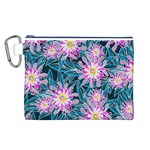 Whimsical Garden Canvas Cosmetic Bag (L) Front